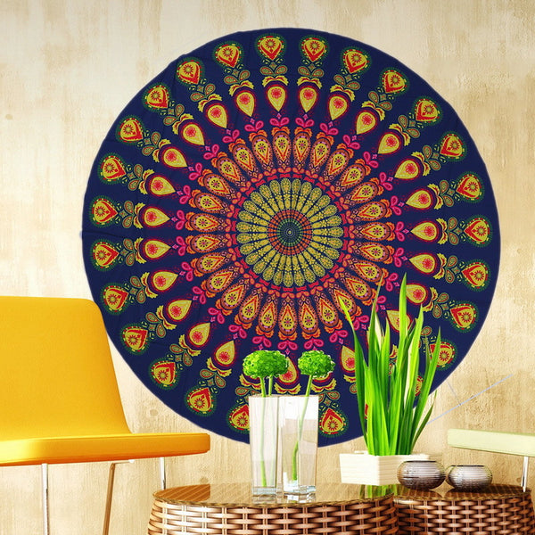 Colourful Round Mandala Tapestry Beach Towel / Blanket / Table Cloth