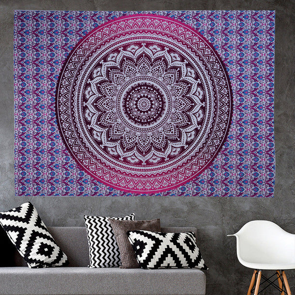 Different Designs of Indian Mandala. Yoga Mat / Beach Towel / Throw  / Tablecloth.