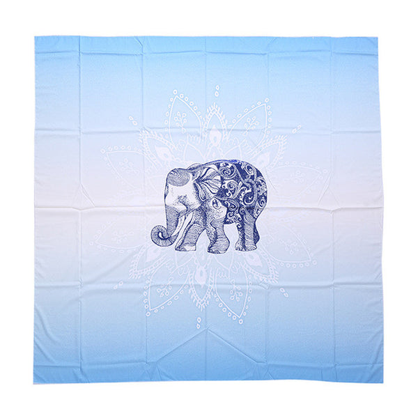 Different Mandala Designs: Indian Elephant / Lotus. Yoga Mat / Throw.