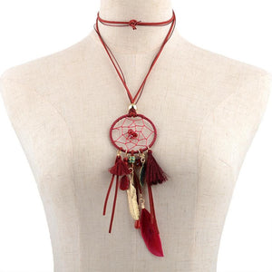 Dreamcatcher Necklace Available in Various Colours by SUSENSTONE