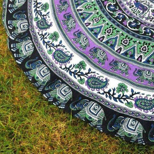 Round Mandala Beach Throw / Towel / Yoga Mat