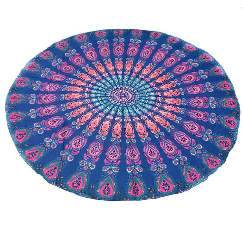 Colourful Round Beach Towel / Yoga Mat