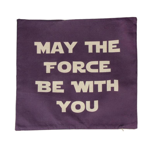"""May The Force Be With You"" Pillow Case / Cushion Cover"