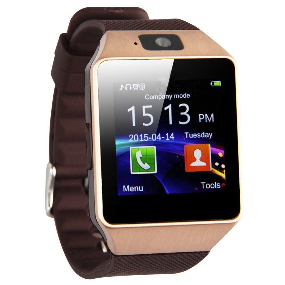 Brown Smartwatch with Bluetooth For Android & IOS Phones