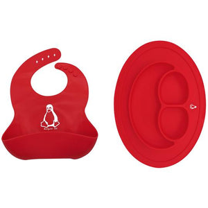 Bendy Silicone Baby Bib & Placemat Set