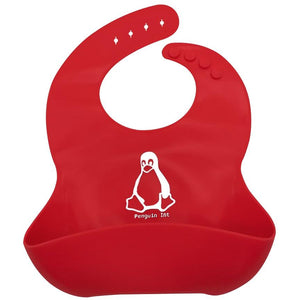 Penguin Int | Soft Silicone Waterproof Baby Bib With Food Catcher