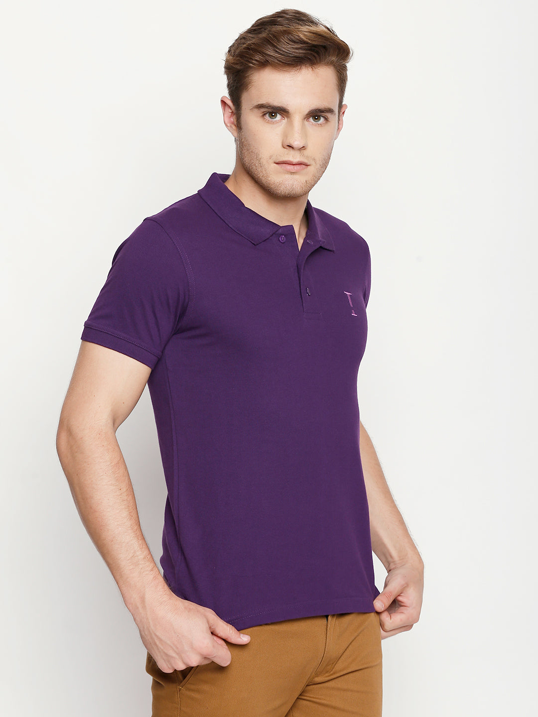 Berry Purple Solid Polo