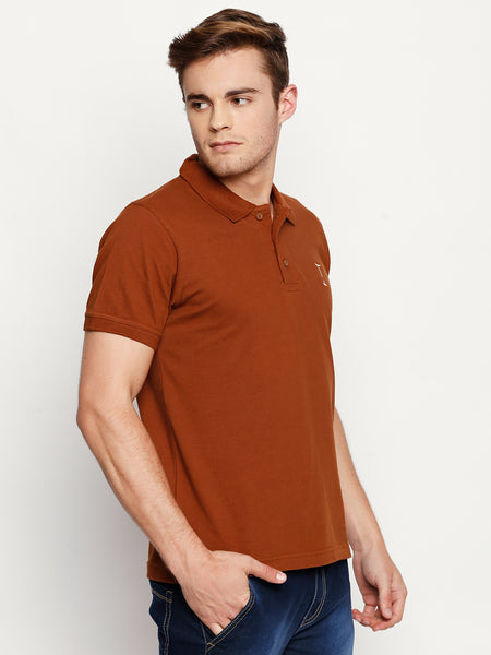Chestnut Brown Solid Polo