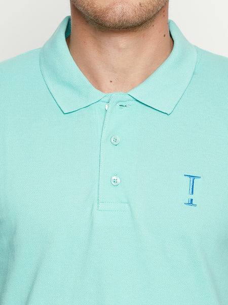 Coral Green Solid Polo