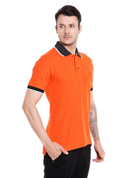 Flame Orange Solid Polo