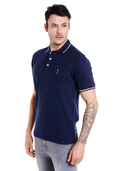 Black Iris (Dark Navy Blue) Solid Polo