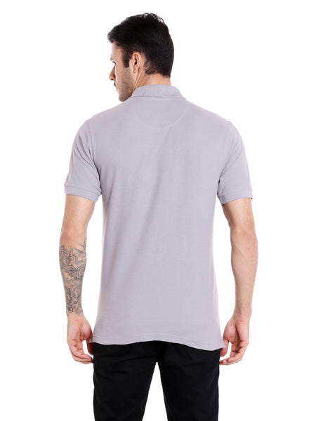 Sharkskin Grey Solid Polo