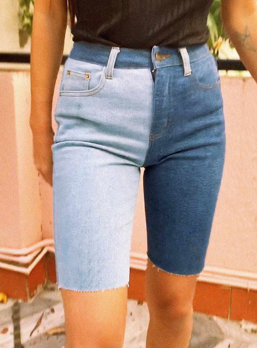two faced shorts