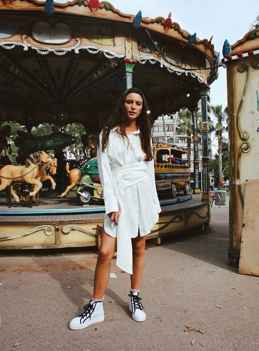 shelter dress white