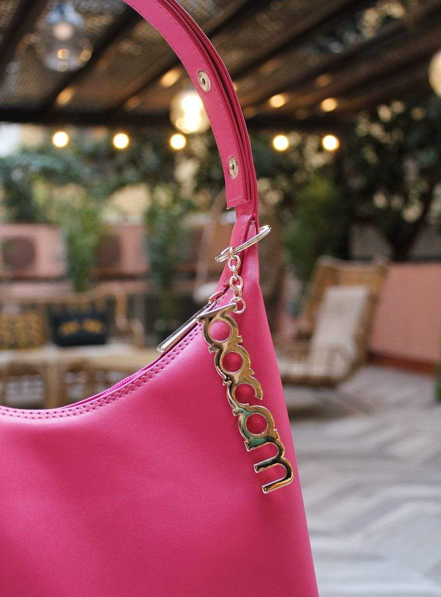 triangle bag pink