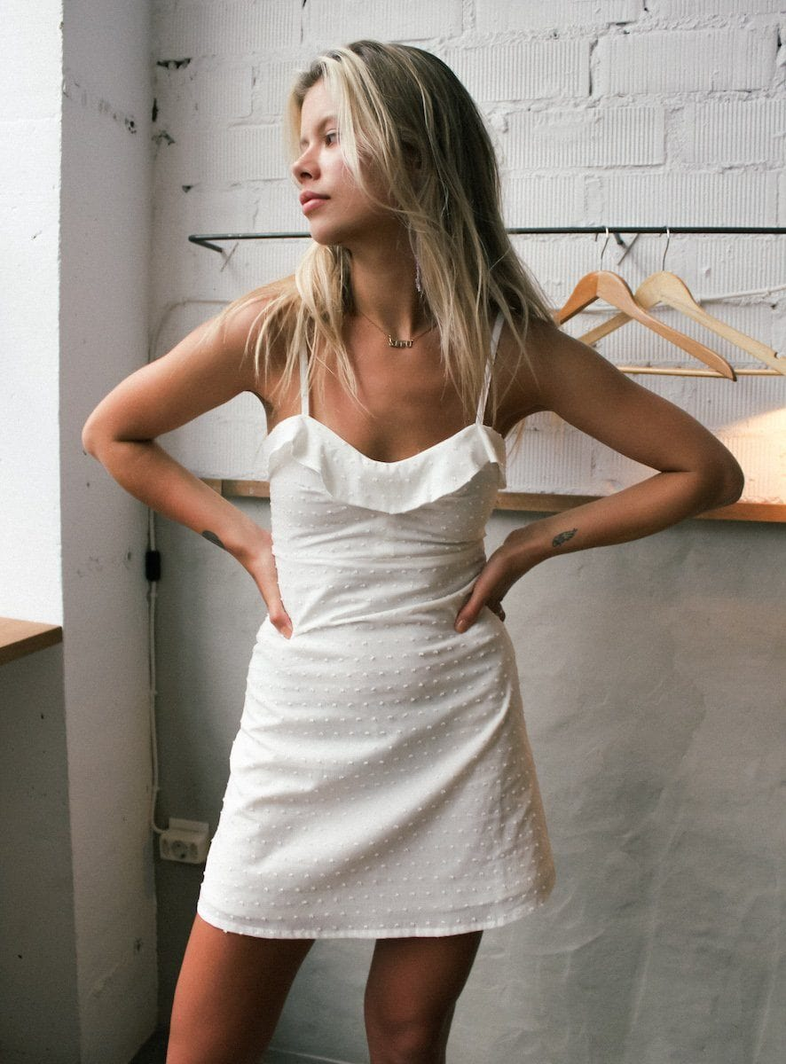 babe white dress