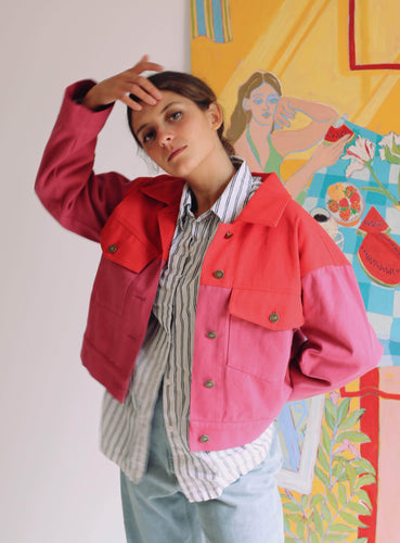 palette jacket red