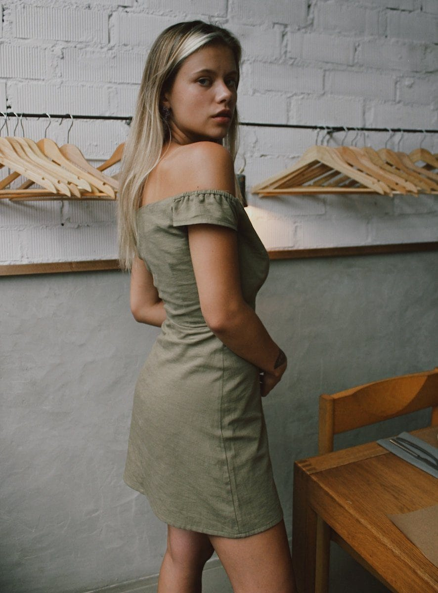 warrior khaki dress