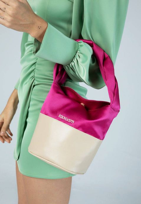 satin bag fucsia