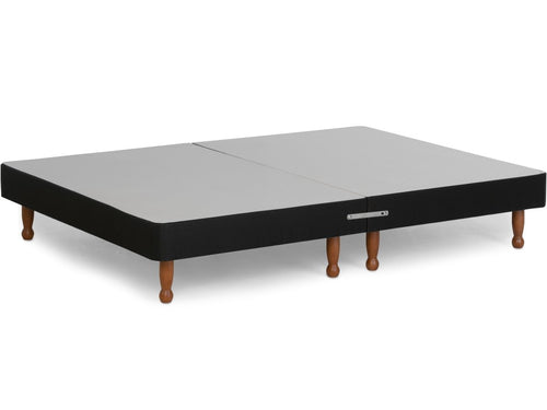 Platform Top Contract Divan Bed Base on Skittle Wooden Legs