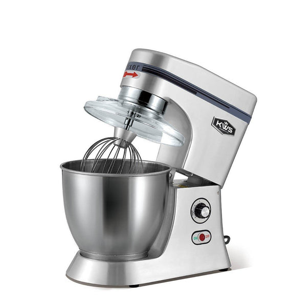 KWS M-B7 Commercial 620W Stand Mixer,7 Quarts Silver Heavy-Duty for Restaurant/Bakery /Tea Shop/Coffee Shop