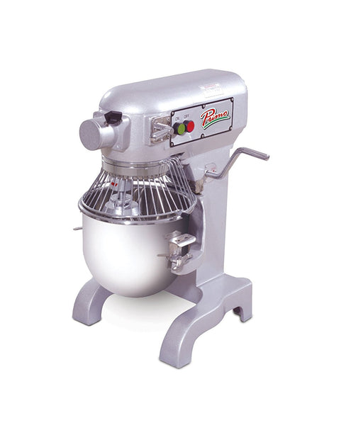 "PRIMO PM-10 Stainless Steel Mixer, 10 quart Capacity, 13"" Width x 30"" Height x 15"" Depth"