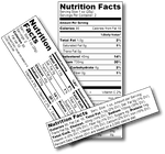 Nutritional Analysis Label For Your Food product [ Create Your Own]