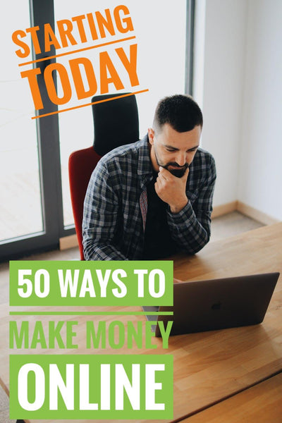 50 Ways to Make Money online  (ebook) Step by step