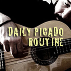 Daily Picado Routine (video + tabs)