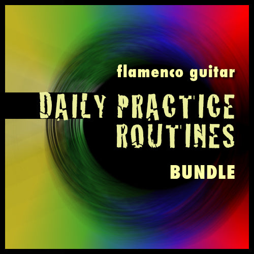 Flamenco Guitar Daily Practice Routines Bundle (videos + tabs)