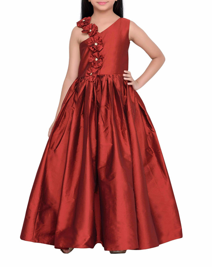 K&U Girls' Maroon Gown Gowns K&U