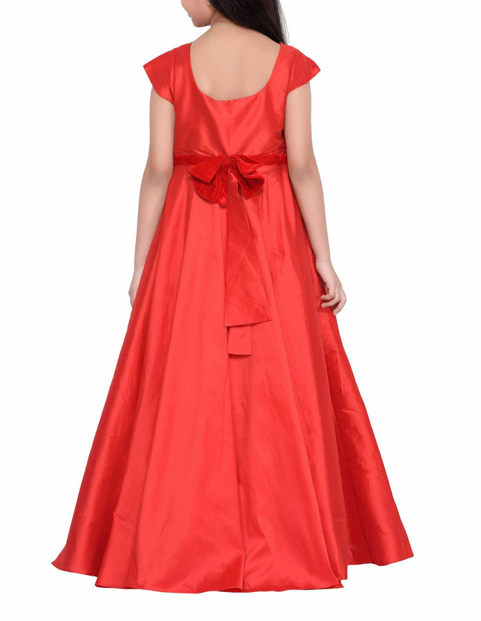 K&U Girls' Red Gown Gowns K&U