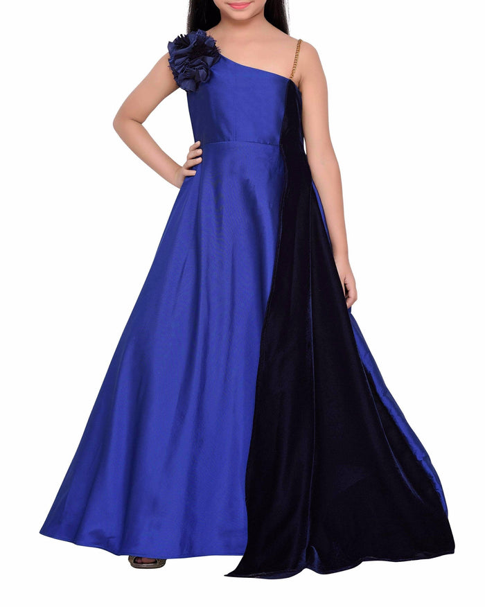 K&U Girls' Royal Blue Gown Gowns K&U