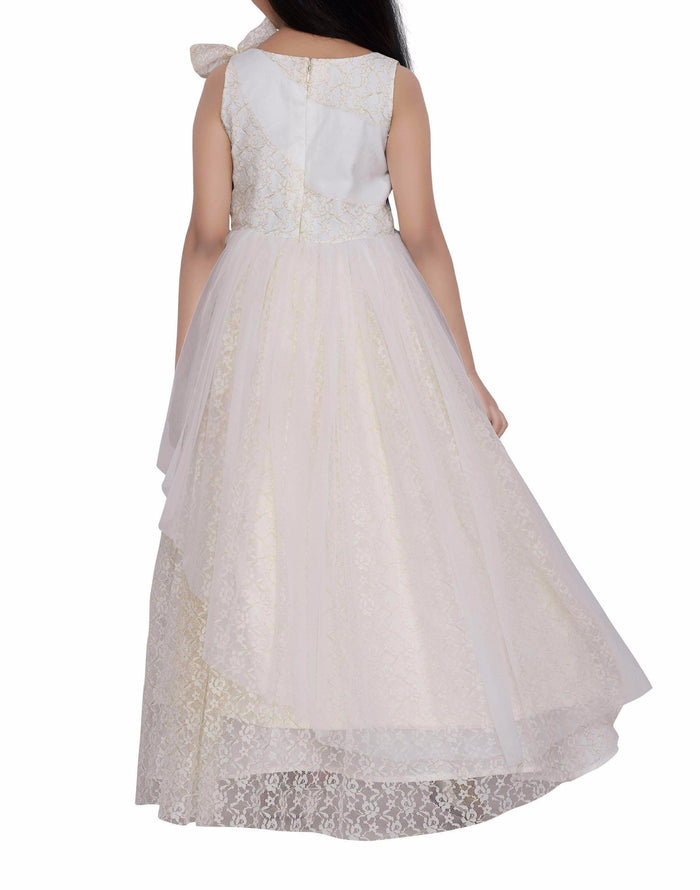 K&U Girls' Offwhite Gown Gowns K&U