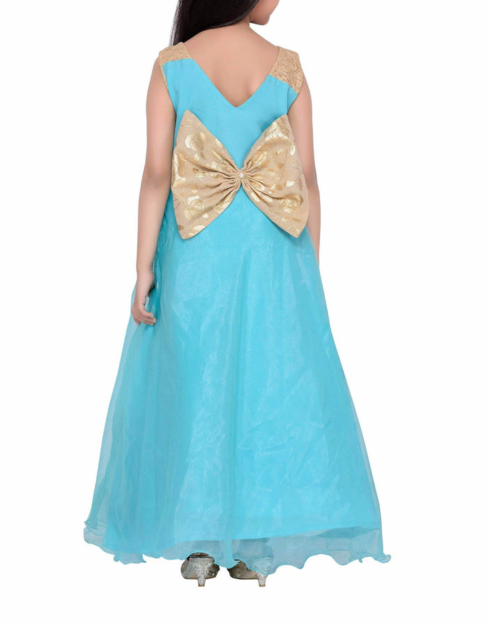 K&U Girls' Sky Blue Gown Gowns K&U