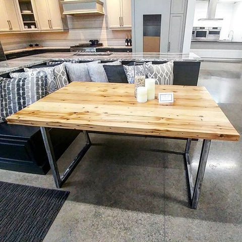Reclaimed Tobacco Kiln Harvest Table