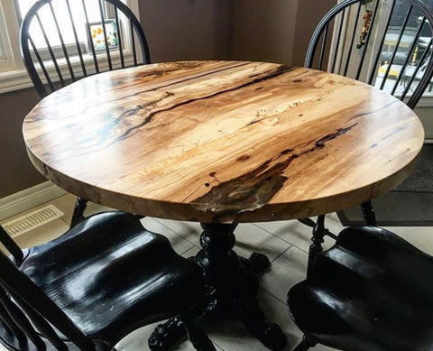 Spalted Maple Round Table