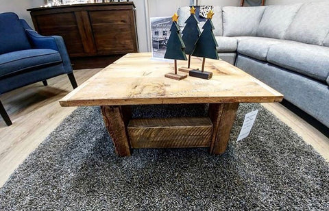 Salvaged Floor Board - Coffee Table
