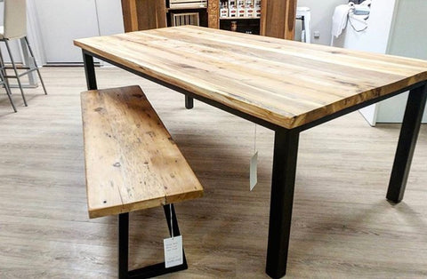 Spalted Beech Dining Table with Bench