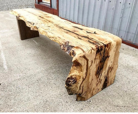 Waterfall Bench - Spalted Maple