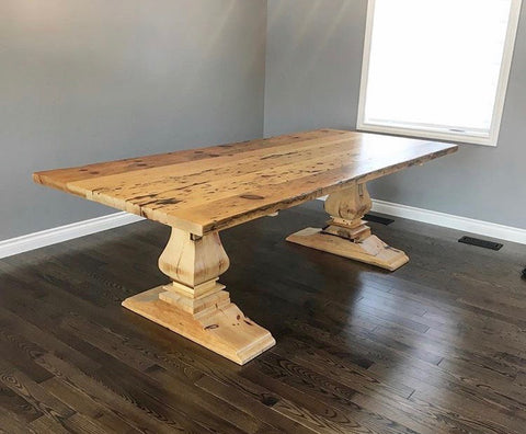 Pedestal Base Harvest Table