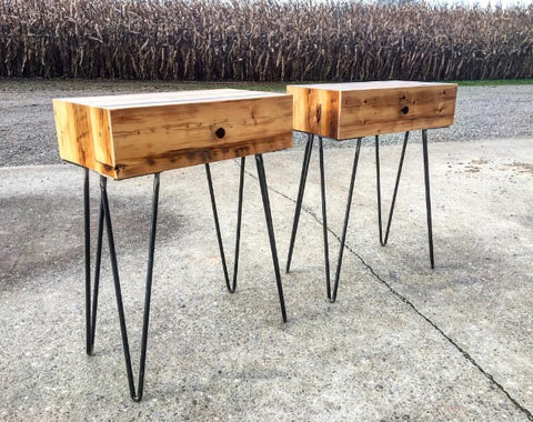 Reclaimed Tobacco Kiln End Tables