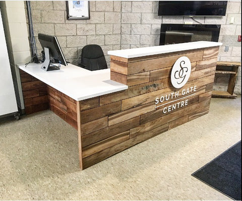Roasted Maple Accessible Reception Desk