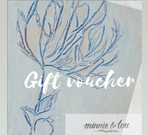 Minnie&Lou gift voucher, eco friendly gifts hand made in Melbourne Australia