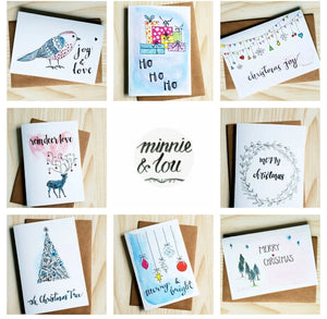 Eco Christmas cards and stationery, Made in Melbourne, Minnie&Lou
