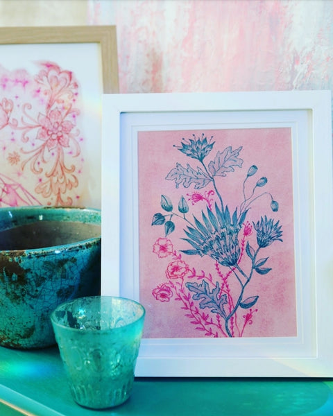 Dining room styling modern Floral Watercolour art