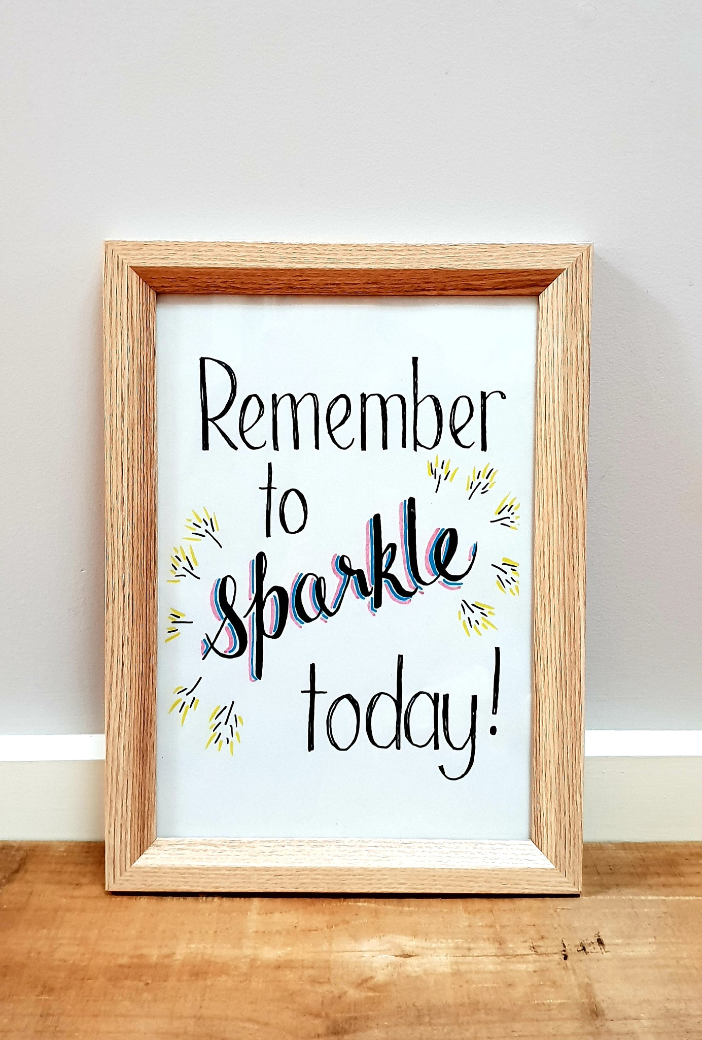 """Remember to Sparkle Today!""  Nursery / Kids / Teenage decor / digital download"