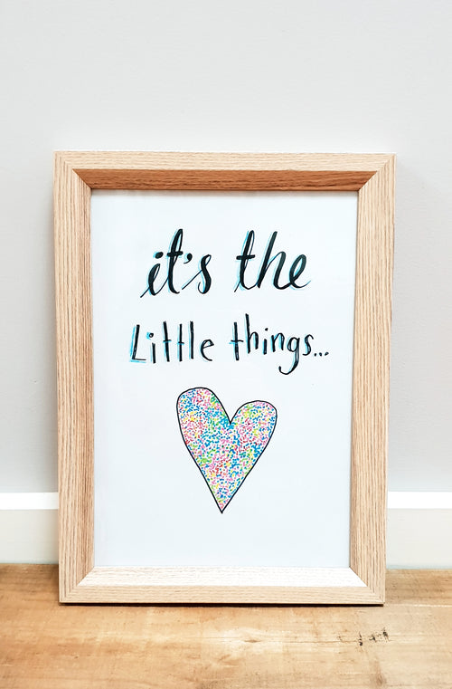 """It's the Little Things""  Nursery / Kids / Teenage decor / digital download"