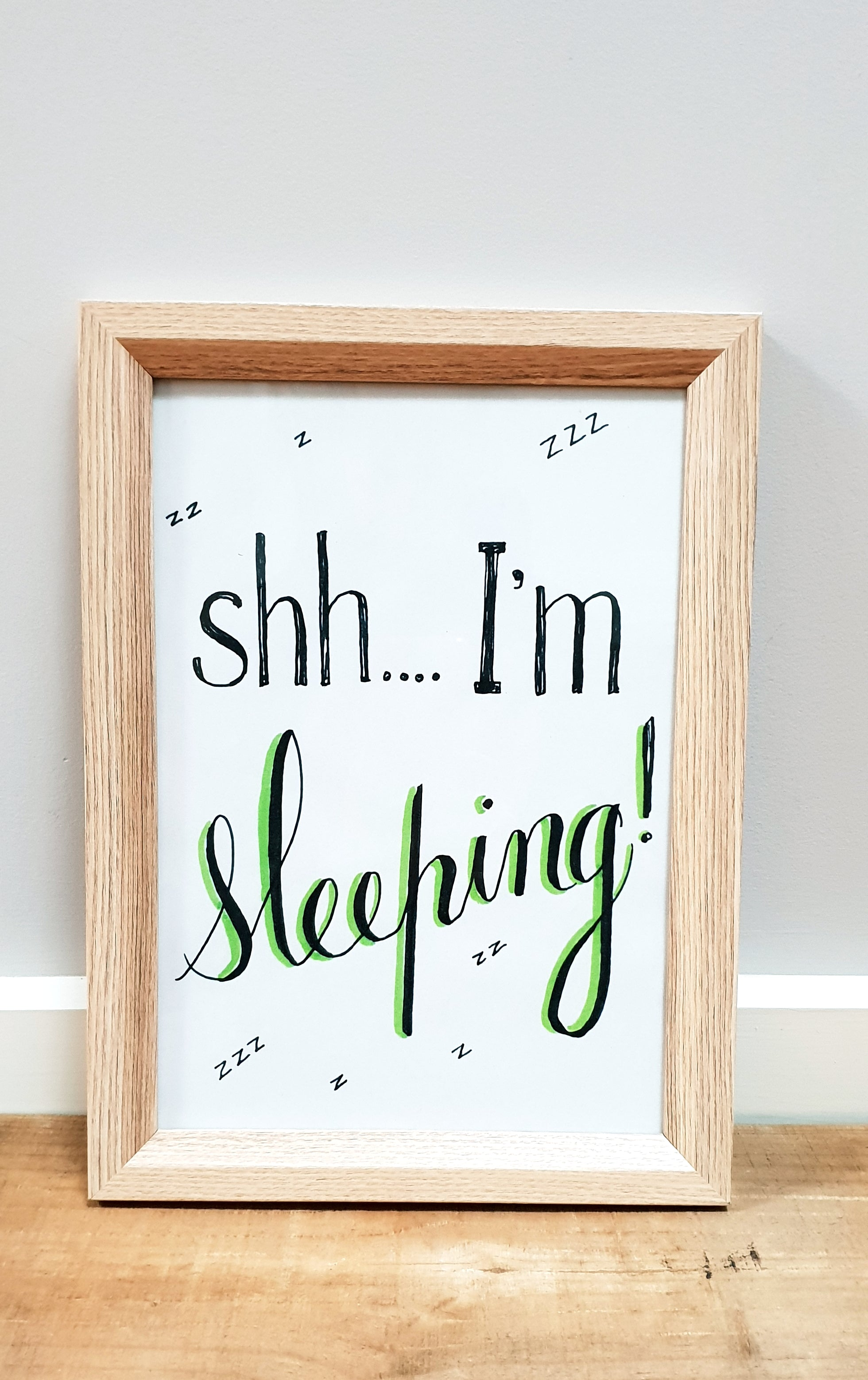 "Nursery decor / digital download / print at home ""Shh, I'm Sleeping!"""