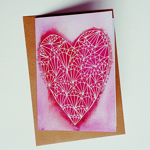 'That Sparkly Love' Blank Greeting Card by Minnie&Lou